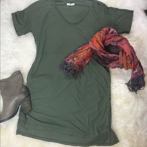 Madewell Overtime T-Shirt Dress Size Small Olive
